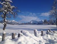 Begleitete Winterwanderung  über die Buckelwiesen nach Klais, über Sonnenhügel und Barmsee zurück