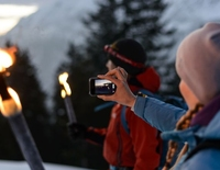 Torchlight hike to the hut evening