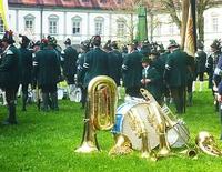 Parade bayerischer Gebirgsschützenkapellen