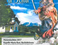 Maiandacht an der Kapelle Maria Rast in Krün
