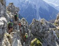 Geführte Klettersteigtouren rund um Mittenwald  - Zugspitze über die Wiener-Neustätter Hütte  (Stopselzieher)
