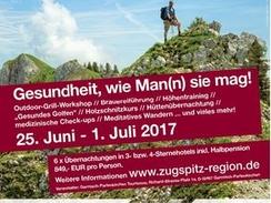 Männergesundheitswoche in der Zugspitz Region - Gesundheit, wie Man(n) sie mag!