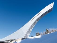Führung auf die Skisprungschanze