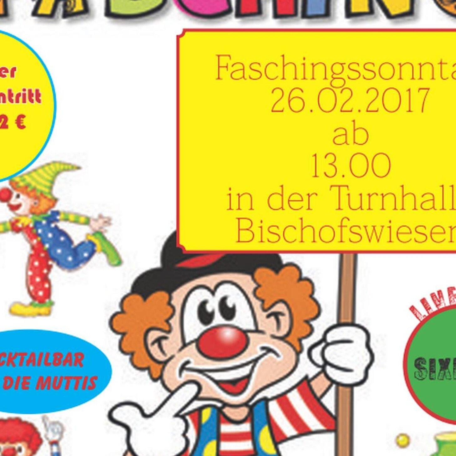 Kinderfasching in der Turnhalle Bischofswiesen