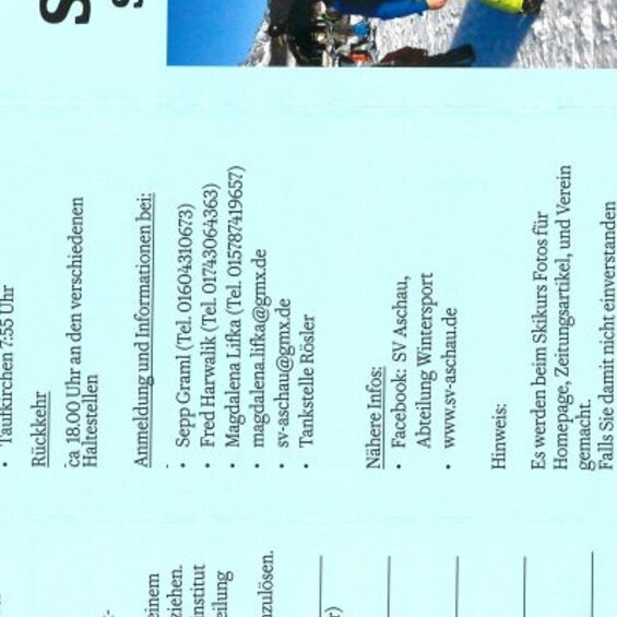 SVA-Wintersport: Skikurs