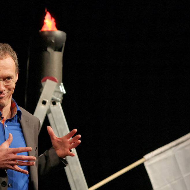 Dieter Baumann, die Götter und Olympia – das Lach und Laufkabarett