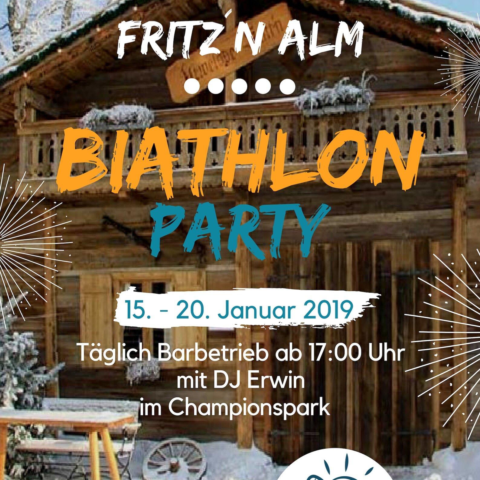 Biathlon Party in der Fritz´n Alm