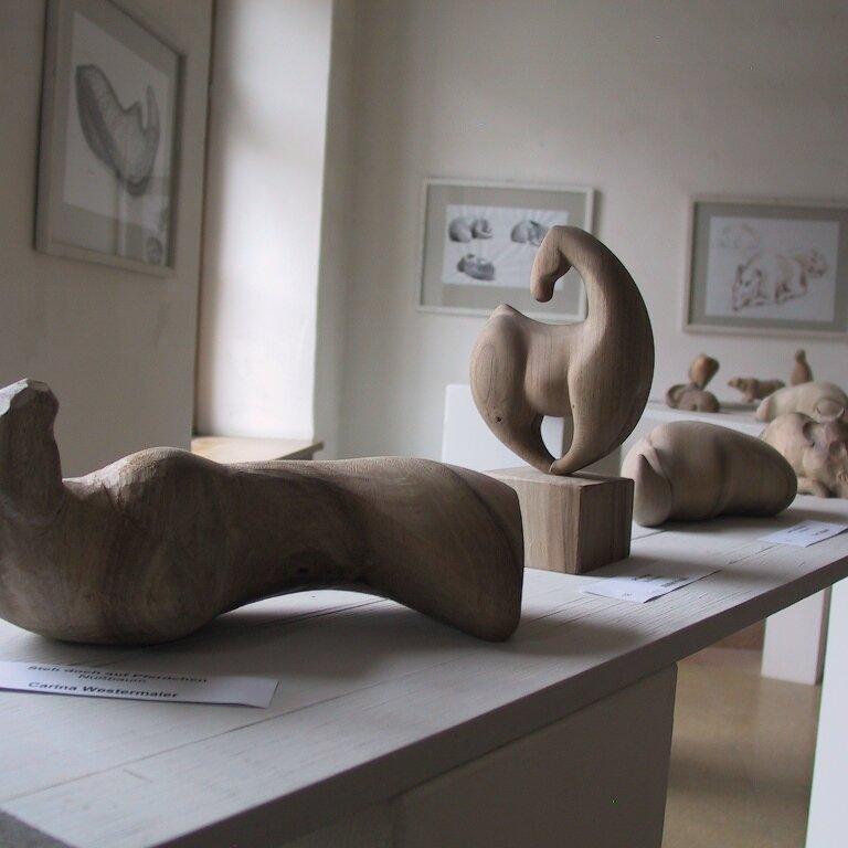 100 m² Kreativität in einer Ausstellung in Kloster Seeon