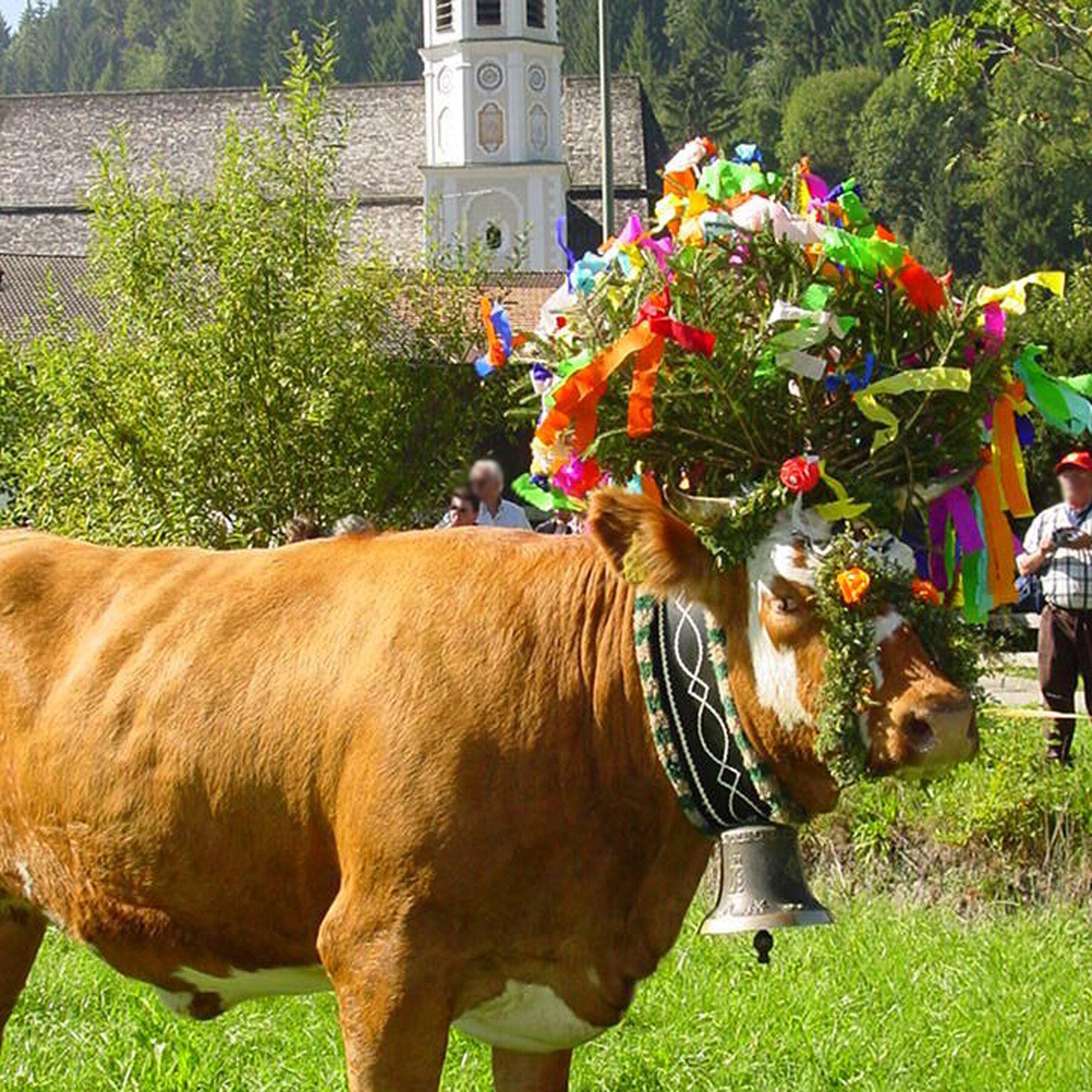 Großes Almabtriebsfest im Bergsteigerdorf Sachrang