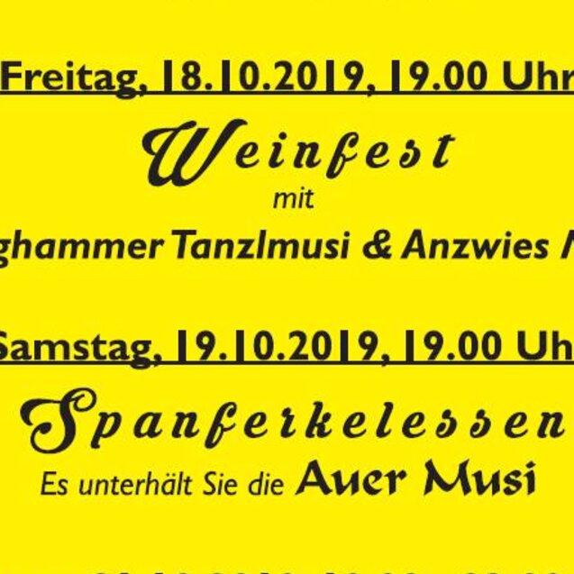 Musikantenkirta der Auer Musi: Weinfest