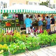 Bauernmarkt am Traunsteiner Stadtplatz