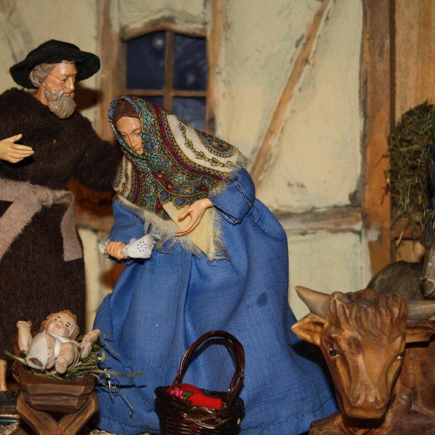 Alpenländische Weihnachtskrippe