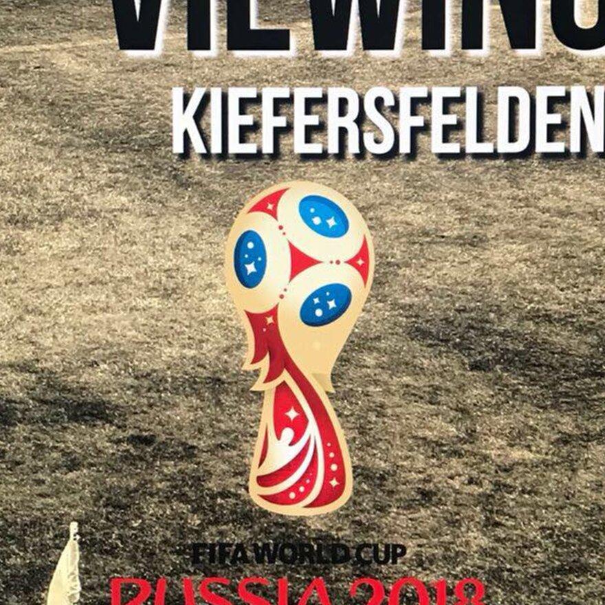 Fußball-WM live Übertragung Public Viewing auf Großbildleinwand
