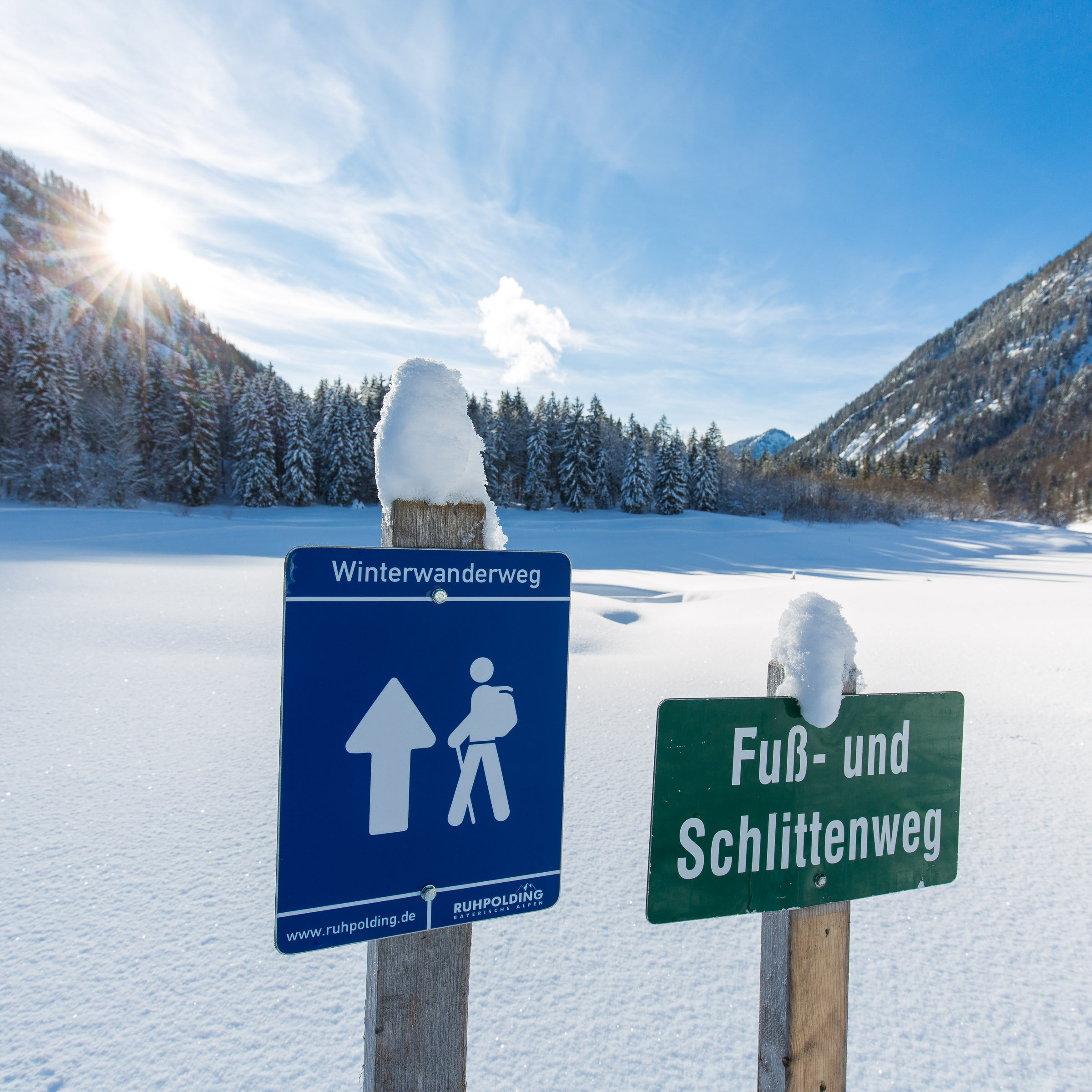 Winterliche Berg- und Almwanderung