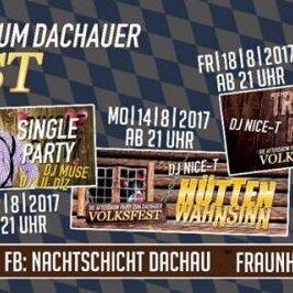 After Show Partys zum Dachauer Volksfest