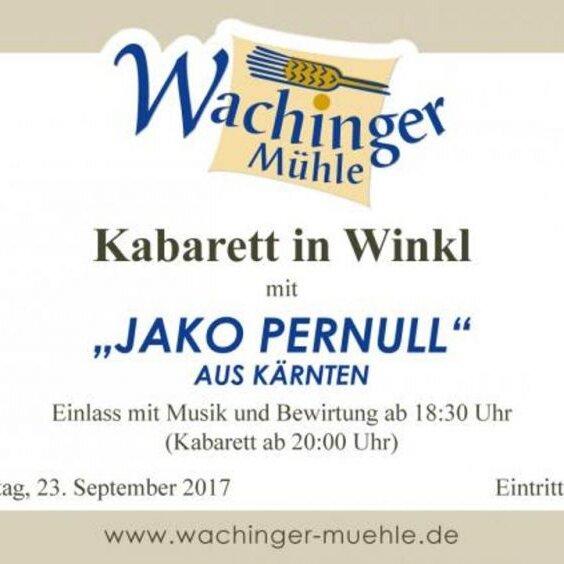 Kabarett in Winkl mit Jakob Pernull