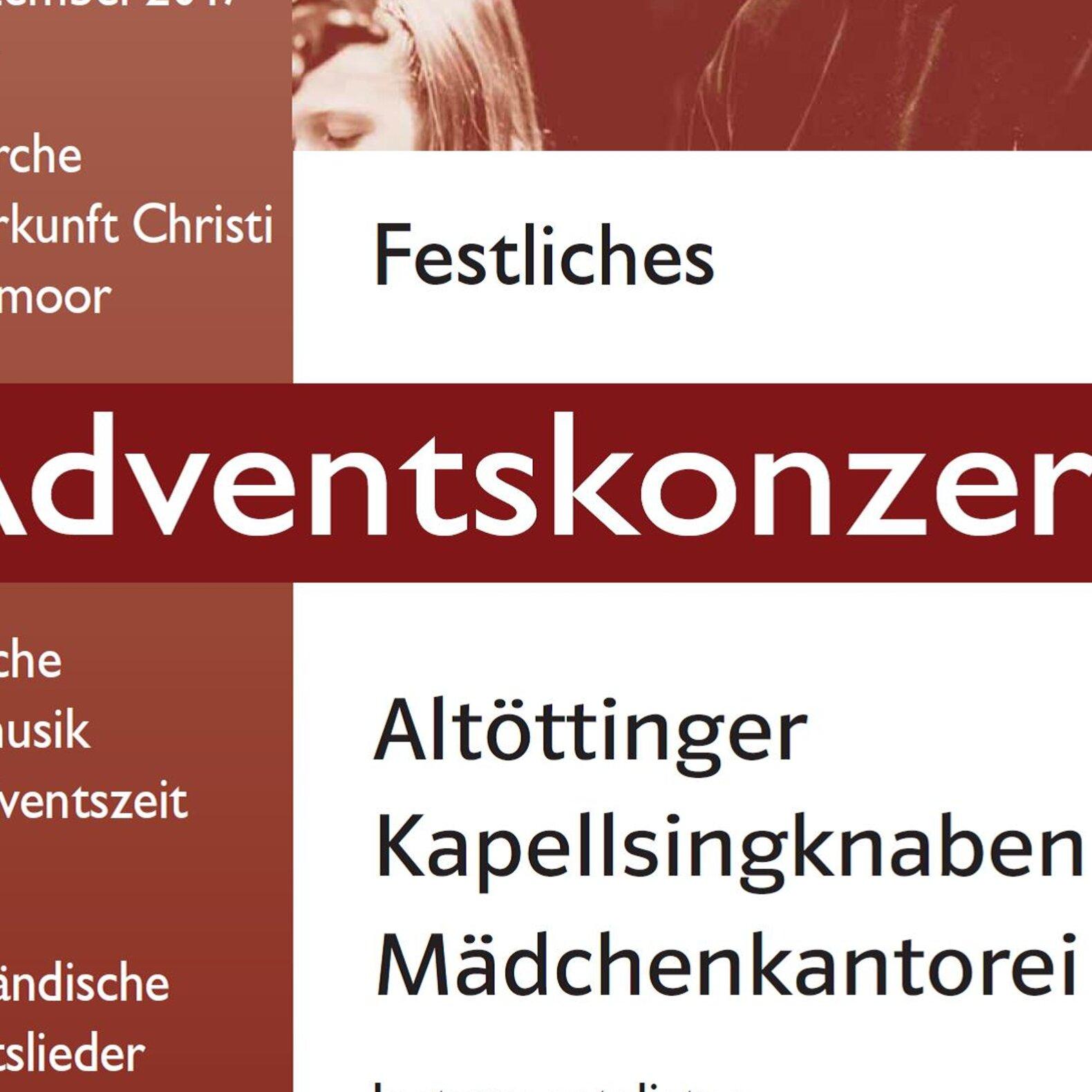Festliches Adventskonzert - Altöttinger Kapellsingknaben und Mädchenkantorei