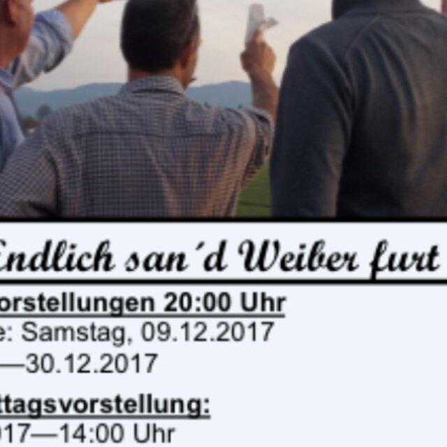 """Theater Prutting - """"Endlich san d'Weiber furt!"""""""