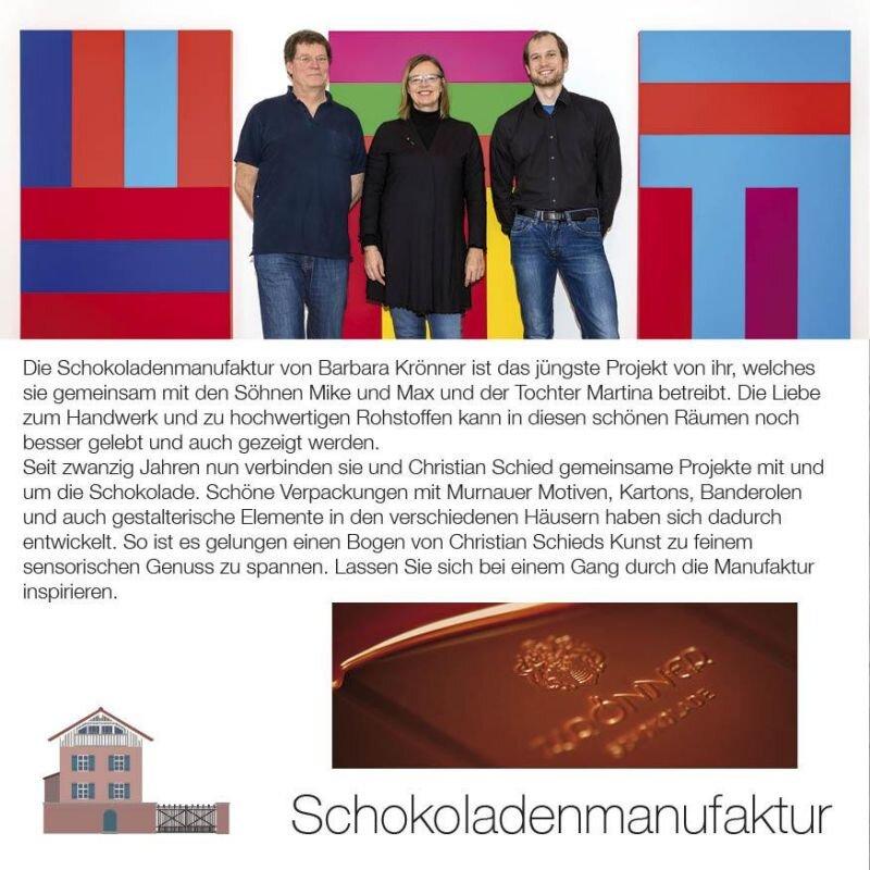 Kunstwirte Ausstellung in der Schokoladenmanufaktur Krönner