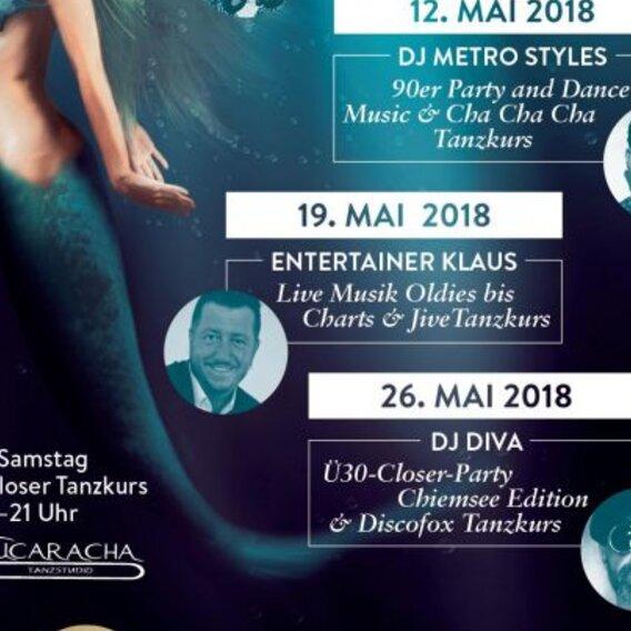 OCEANS im Mai 2018 mit DJ Diva Closer