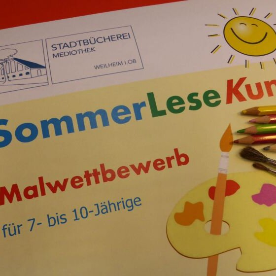 """Ferienprogramm - Malwettbewerb """"SommerLeseKunst"""" für 7- bis 10-Jährige"""
