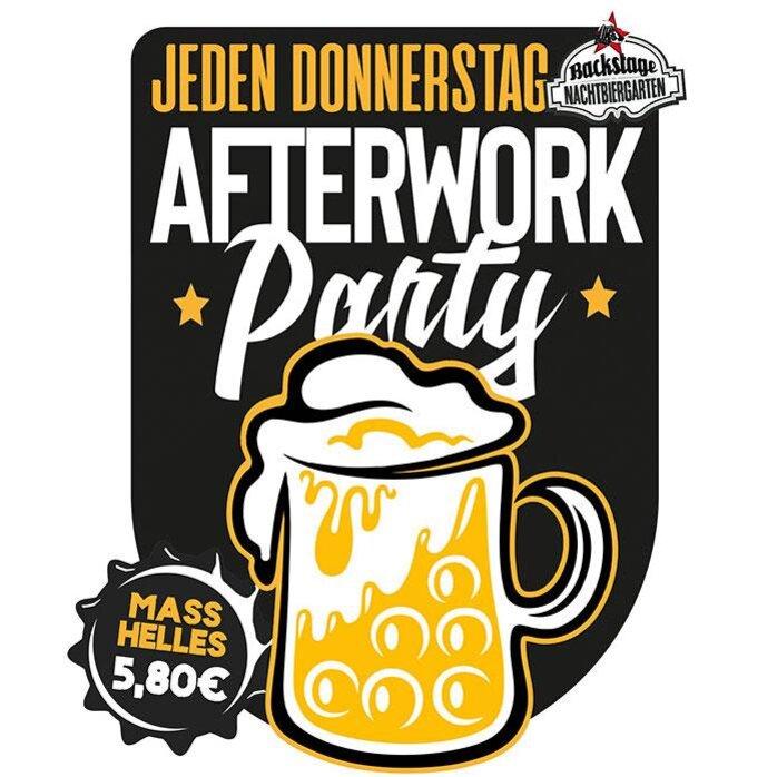 Afterworkparty im Backstage Nachtbiergarten