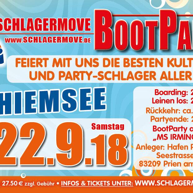 Schlagermove Bootparty Chiemsee