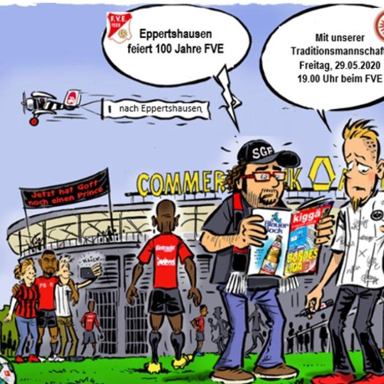 Die Traditionsmannschaft von Eintracht Frankfurt spielt in Eppertshausen