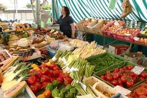 Weilheimer Wochenmarkt am Freitag