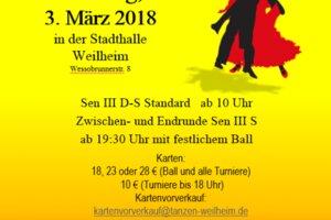 Tanzturnier Bayerische Meisterschaft mit Ballveranstaltung