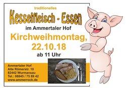 Kesselfleisch-Essen am Kirchweihmontag