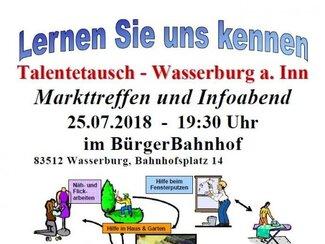 Talentetausch Markttreffen im BürgerBahnhof
