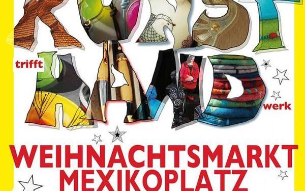 Plakat Weihnachtsmarkt Mexikoplatz   Kunsthand-Berlin