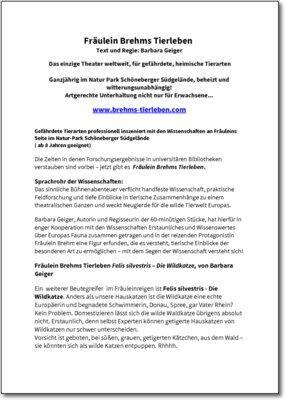 Fräulein Brehms Tierleben: Felis silvestris – Die Wildkatze