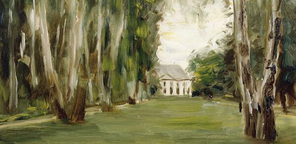 Max Liebermann (1847 - 8.2.1935), Haus am Wannsee, 1926, Gemälde / Öl auf Holz | © Staatliche Museen zu Berlin, Alte Nationalgalerie