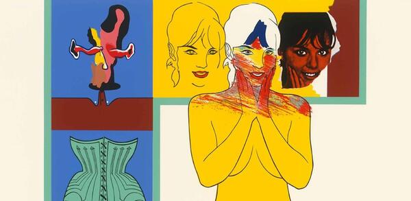 Allen Jones: For the Lips (Pour les lèvres), Detail, 1966, Farbsiebdruck (Blatt aus: