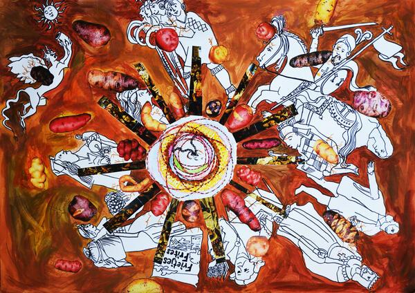 Zeichnung & Collage von Daniela Zambrano Almidon | Daniela Zambrano Almidon
