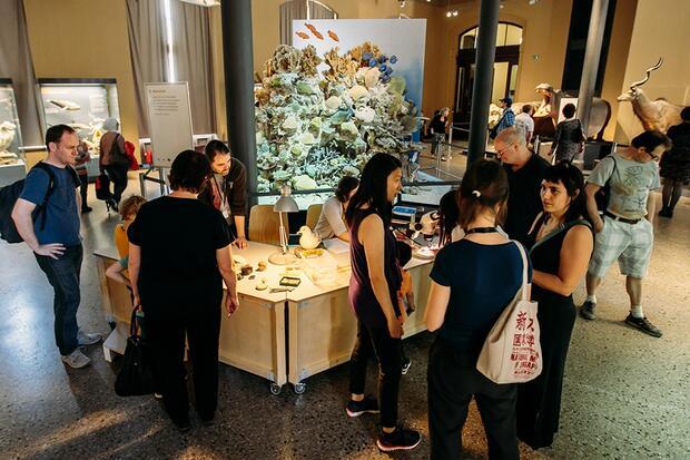 Aktionsstand in den Ausstellungen
