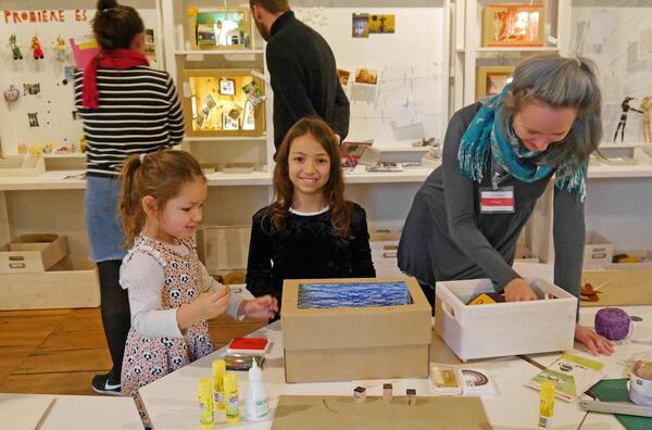 In den [Probe]Räumen können Erwachsene und Kinder eigene Ausstellungen gestalten | © Stadtmuseum Berlin | Foto: Judith Kuhn
