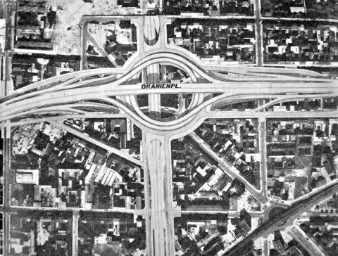 Autobahnplanung am Moritzplatz 1960er bis 1980er Jahre