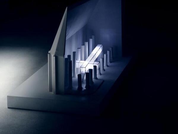 Modell der Installation KREUZ WEG von Mia Florentine Weiss (Ausschnitt) | © & Foto: Karl Anton Koenigs | protected