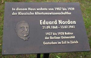 Gedenktafel Eduard Norden | Steglitz Museum
