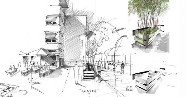 Entwurfszeichnung Gartenparade, 2013 | © atelier le balto