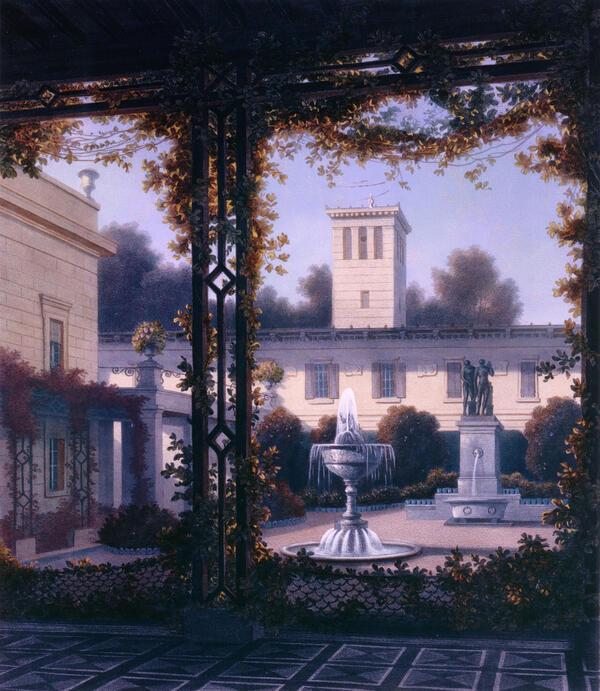 Haun nach Schirmer: Der Gartenhof von Glienicke, 1837 | © SPSG / Foto: Jörg P. Anders