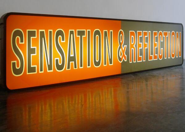 © Irène Hug, Sensation und Reflection, Leuchtkasten, 2015   © Irène Hug   promotional
