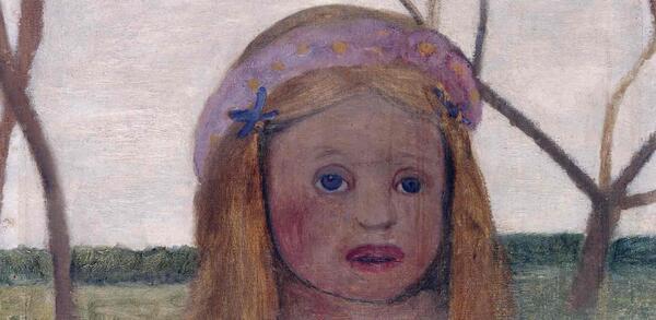 Paula Modersohn-Becker, Mädchen mit Blütenkranz im Haar, um 1901 | © Staatliche Museen zu Berlin, Nationalgalerie / 1962 erworben durch das Land Berlin / Foto: Jörg P. Anders