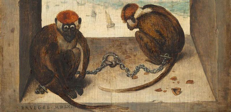 Pieter Bruegel der Ältere: Zwei Affen, 1562