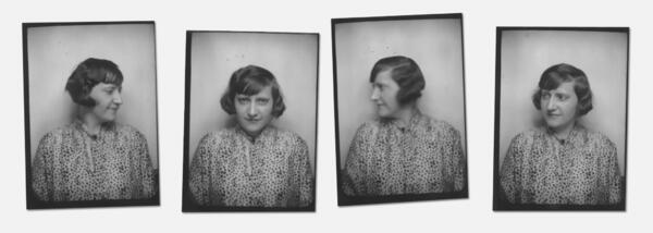Porträts einer Frau, Fotoautomat