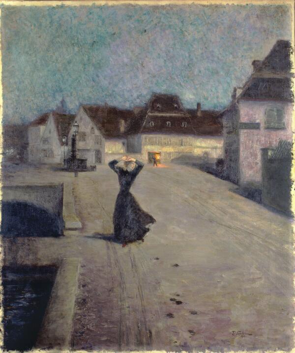 Franz Skarbina Ein Nachtbild 1895 Öl auf Leinwand Sammlung H. Huth | Foto: © Fotostudio Bartsch, Karen Bartsch, Berlin