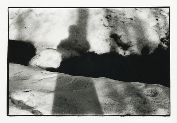 Michael Rutschky: Schatten auf Schnee, Fotografie | © Archiv der AdK, Berlin | Michael Rutschky